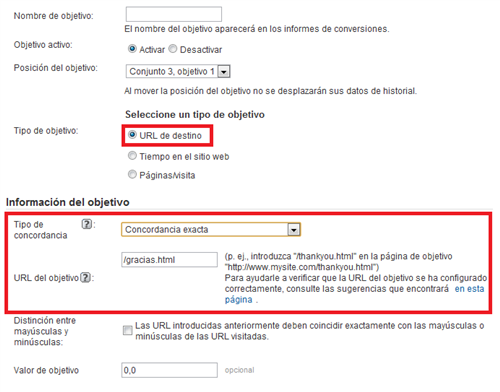 Configuracin de goals en google analytics
