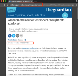AMP version of an old news article from the guardian