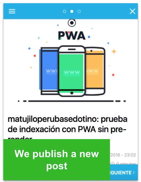 New post on the PWA